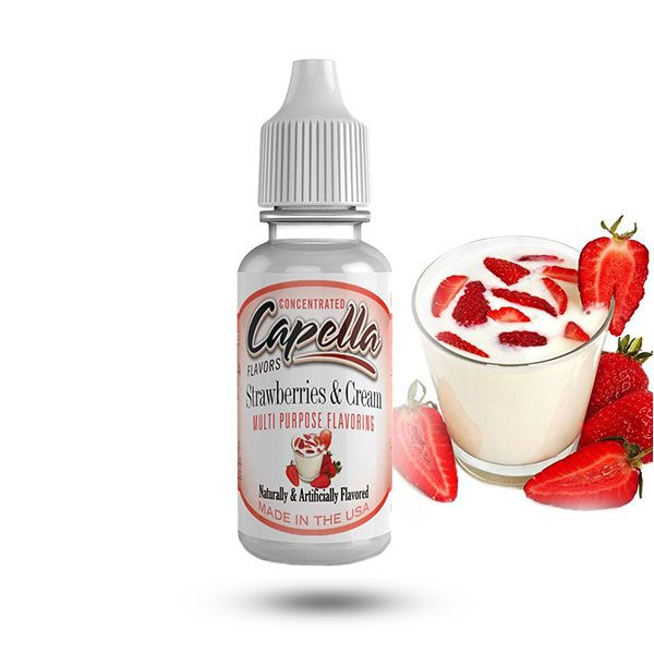 Capella maitsestaja Strawberries and Cream 13ml