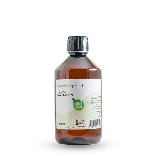 Toidu lisaaine Taimne glütseriin VG 500ml
